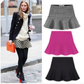 2016 new hot  sale fashion women's spring summer Plover lattice waves show thin tail skirts women winter bust skirt S-XXL
