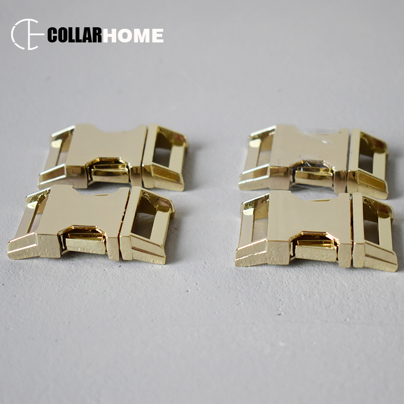 Gold quick release buckle For 3/4 Inch(20mm)) webbing metal belt buckles durable and strong hardware DIY dog collar accessories