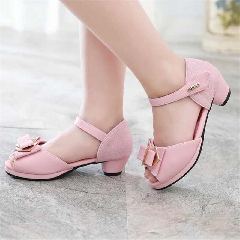 QGXSSHI Children Sandals Girls Performance 2017 Fashion Brand Dress Summer Shoes Sandals Princess Kids Wedding Shoes