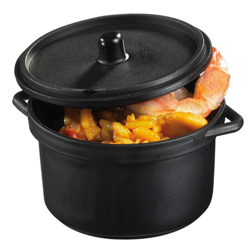 Promotion - Party Festival Wedding Supplies, Reusable Plastic Tableware, 70*60*40mm/90ml Black Mini Cooking Pot, 10/Pack