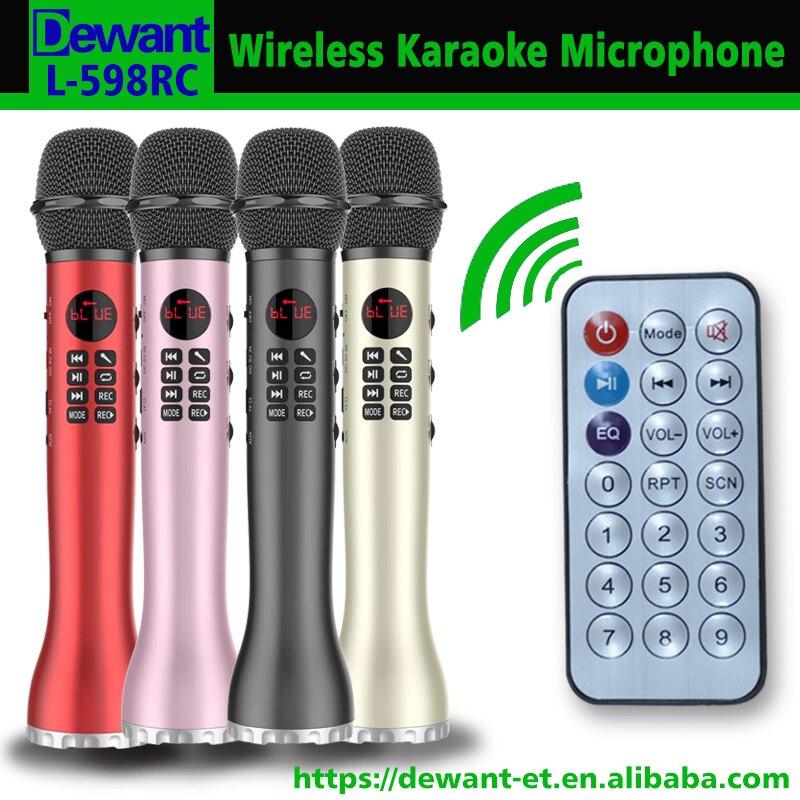 L 598RC 9 W télécommande portable mini amplificateur USB bluetooth karaoké microphone maison KTV microphone sans fil avec enregistrement-in Portable Haut-parleurs from Electronique    1