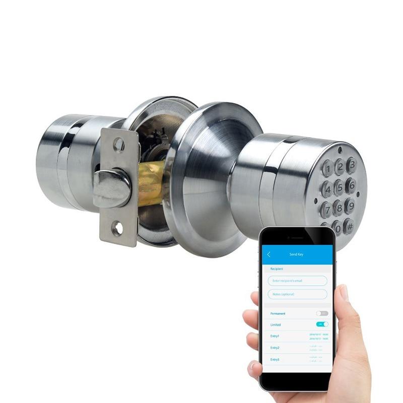 Password Lock Smart Phone Wireless Bluetooth Electronic Door Lock Phone APP Control Home Security Mini Metal Smart Locks
