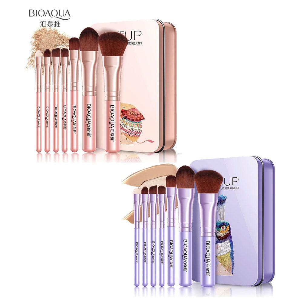 BIOAQUA 7Pcs Makeup Brushes Set Eye Lip Face Foundation Make Up Brush Kit Soft Fiber Hair Tools 789(China)
