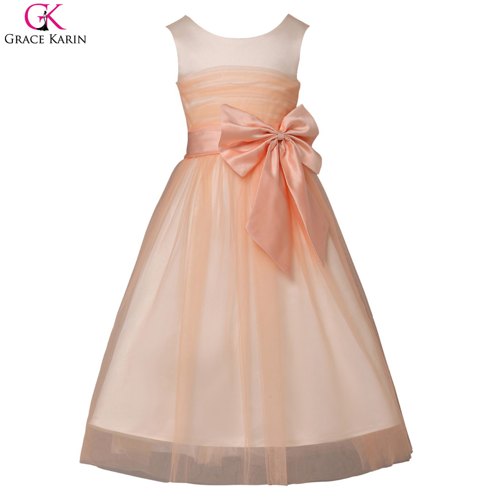 Cheap flower girl dresses for weddings party pageant dress for Wedding party dresses for girl