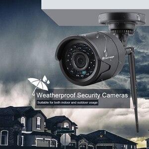 Image 3 - Techage 4CH 720P Беспроводная система охранной камеры Wifi CCTV P2P открытый видео NVR набор 1MP домашний комплект видеонаблюдения 2 ТБ HDD Plug Play