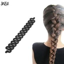 HCS033 Women Lady French Hair Braiding Tool Braider Roller Hook With Magic Twist Styling Bun Maker Band