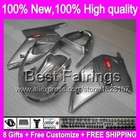 ALL Silver Fairing For Aprilia RS250 95 97 RS 250 RSV 8B11 RSV250 95 96 97 1995 1996 1997 RSV250R RS 250 +decal Gloss silvery
