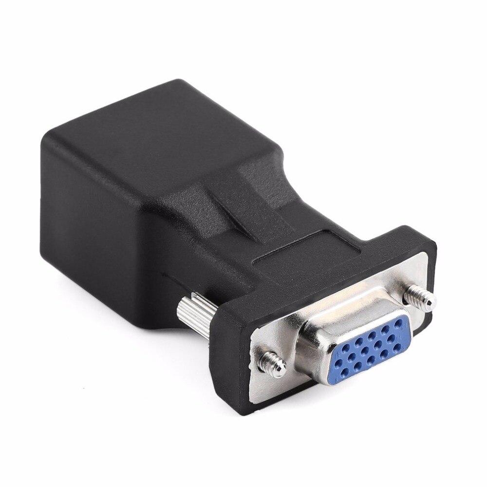 15pin VGA мужской/женский к LAN CAT5 CAT6 RJ45 сетевой кабель адаптер Дада кабель передачи для персонального компьютера Новые ...