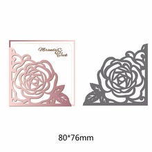 New Fashion Cutting Dies Hollow Flower Metal Steel Handcraft for Creative Scrapbook Embossing Stamps and Paper 1pc
