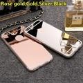 Lifone destello espejo de oro rosa de lujo caso de la manera para iphone 7 6 6 s plus 5S sí suave claro tpu para iphone 6 7 6 s 5S