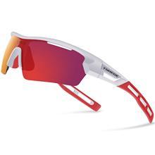 e0fe86fe3f Unisex polarizadas deporte gafas de sol con 4 lente para hombres mujeres  corriendo conducción pesca Golf