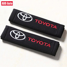 ABD Auto 1 Pair for Toyota cars Seat Belt Strap Covers Shoulder Pad, Black