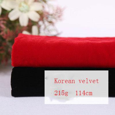 Factory direct high grade polyester woven fabric 114cm black Korean velvet