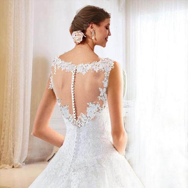 2018 ыстық шнуры White Ivory A-Line Bridesmaid Dresse - Үйлену кешкі көйлектер - фото 4