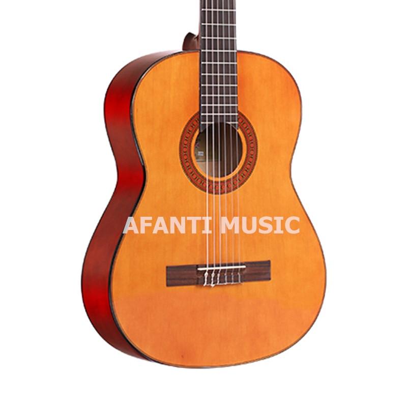 39 дюймов BurlyWood цвета Классическая Гитары из afanti музыка (asg 1011)