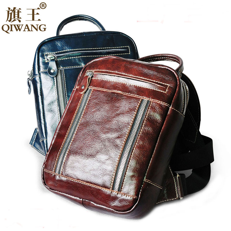 Fashion Designer Women Genuine Leather Backpack Real Leather Fashion Bags for Teenagers Travel Oil Wax Cow Female Phone Back Bag kajie famous brand designer backpack for women 2018 retro genuine leather female back pack oil wax cow leather ladies travel bag