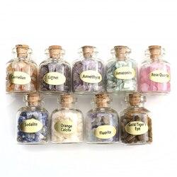 Sunligoo 9 Flaschen Mini Natürliche Halbedel Edelstein Stein Chip Kristall Healing Fiel Reiki Wicca Reise Natürliche Steine Dekoration