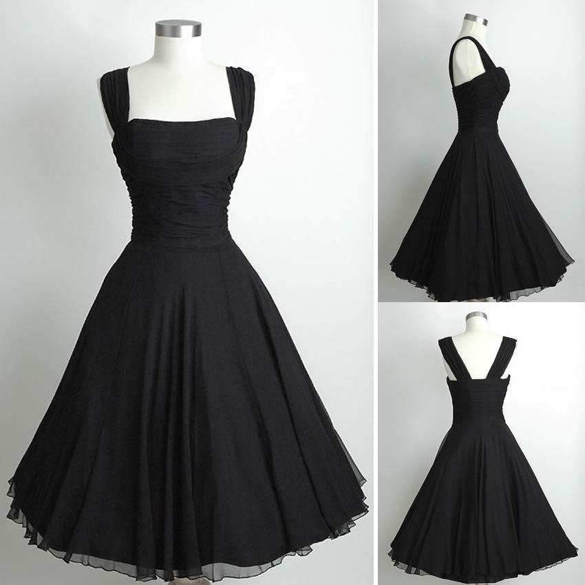 Aliexpress.com : Buy Cheap Little Black Chiffon Cocktail Party ...