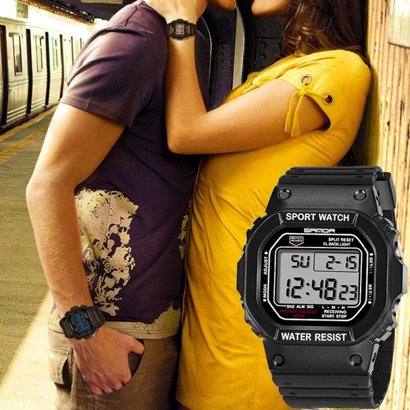Сандалии Элитный бренд спортивные часы Для мужчин модные Повседневное Военное Дело часы мужской Водонепроницаемый цифровой светодиодный …