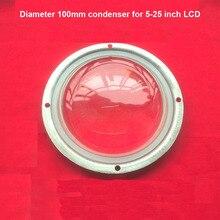 Alta tranparent DIY LEVOU projetor lente com dedicado condensador condensador rodada diâmetro da lente 100mm diy kit de projeção