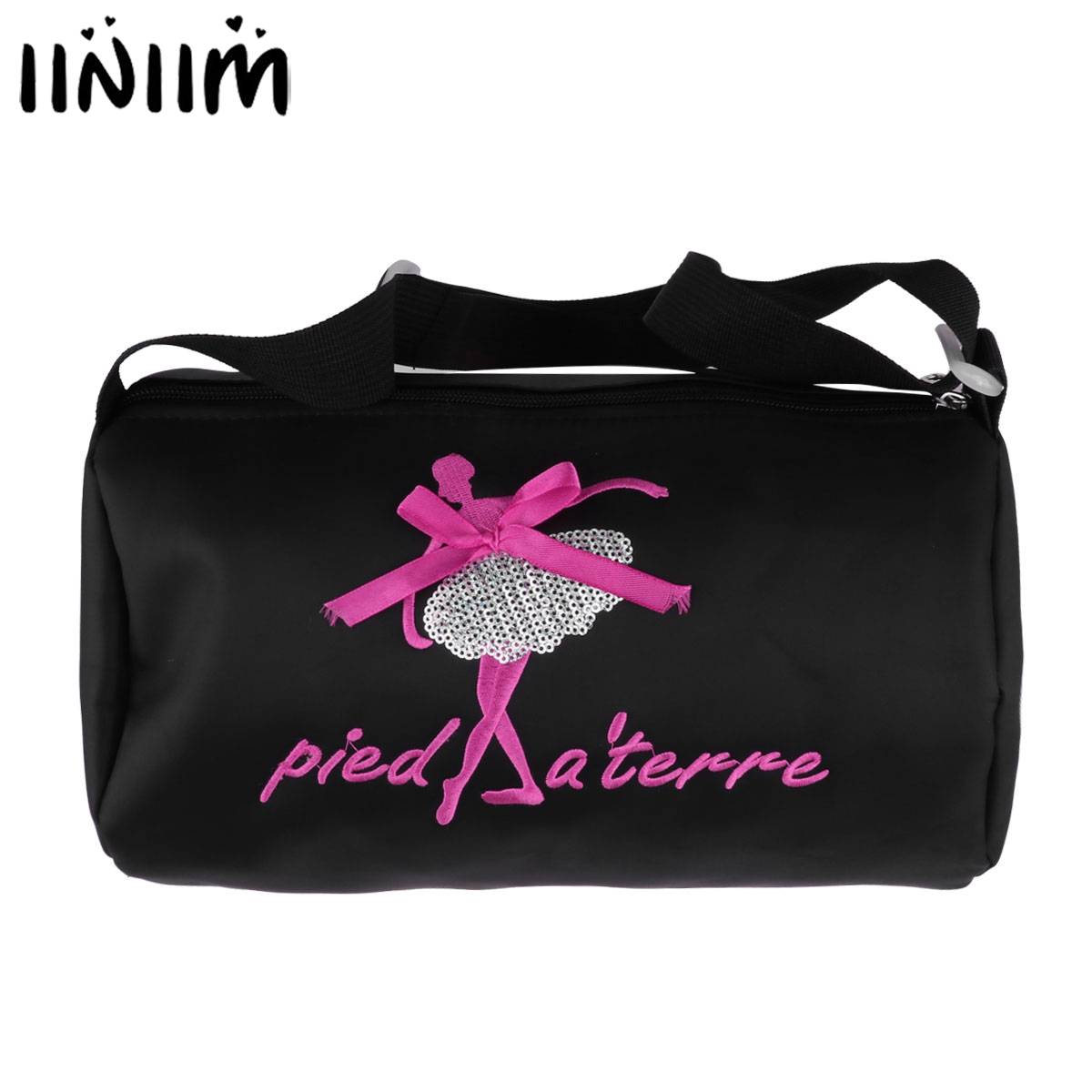 iiniim NEW Kids Girls Adorable Ballet Tutu danse classique Embroidered Ballerina Dancing Duffle Bag Handbag Shoulder Bag