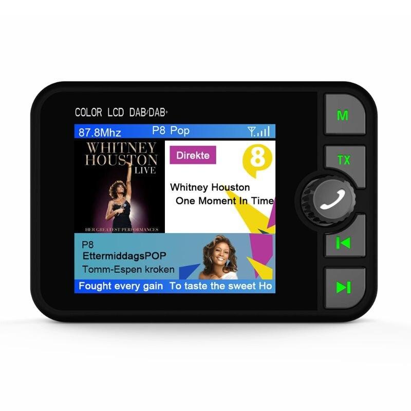 Mini adaptateur récepteur Radio numérique DAB coloré écran LCD Bluetooth MP3 transmetteur FM pour accessoires de voiture qiang