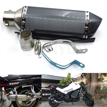 Universal exhaust pipe motorcycle muffler motorcycle titanium modified exhaust pipe for BMW K1200S R1200R R1200S R1200ST R1200GS