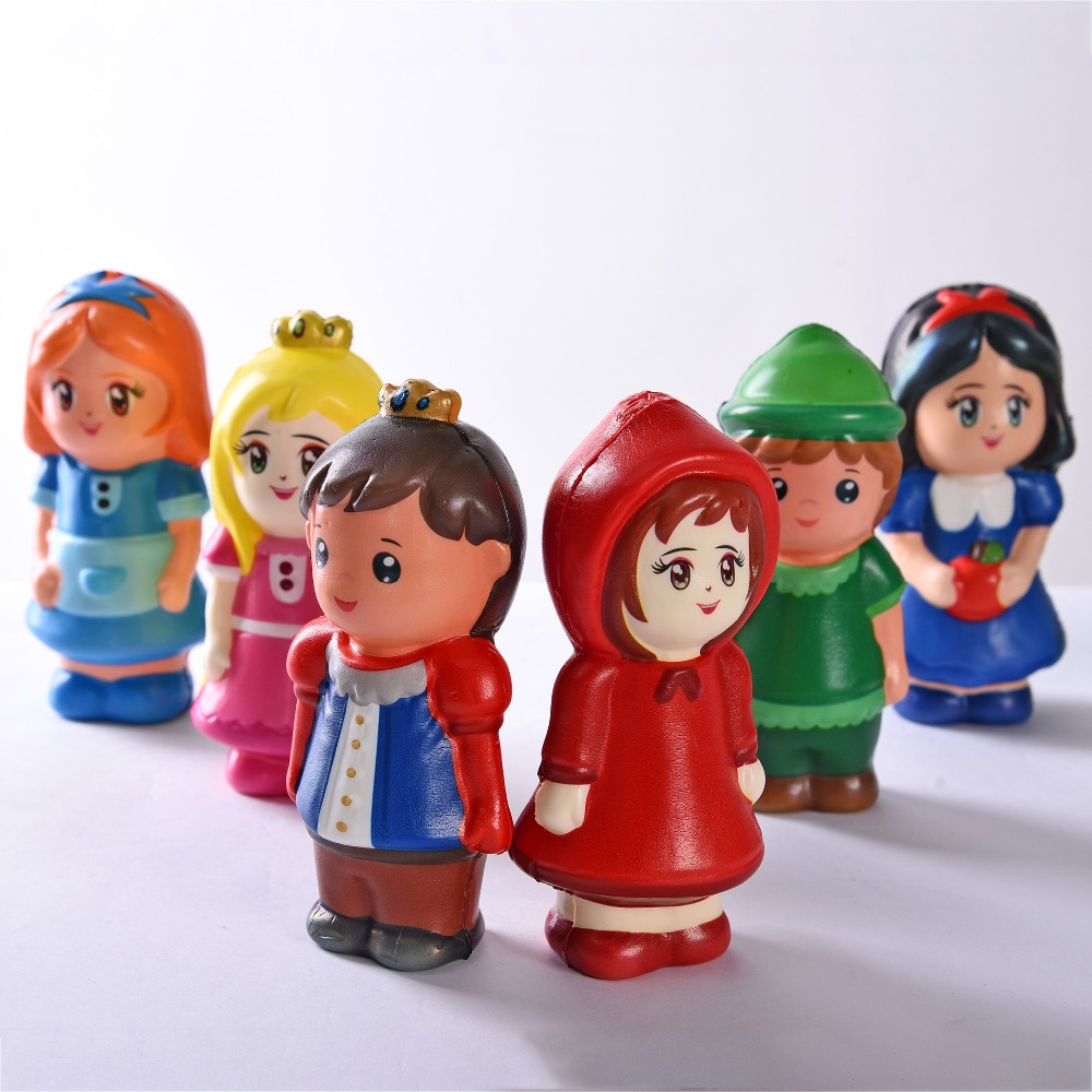 20pcs rare squishy colorful princess prince squeeze toy Environmental protection printing slow rising squishy wholesale