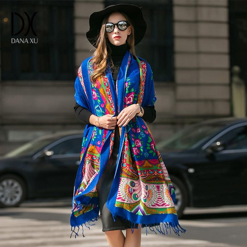 महिलाओं के लिए 2017 नए फैशन सर्दियों दुपट्टा गर्म शॉल लक्जरी ब्रांड लपेटें प्लेड कंबल दुपट्टा ऊन कश्मीरी Foulard लंबे