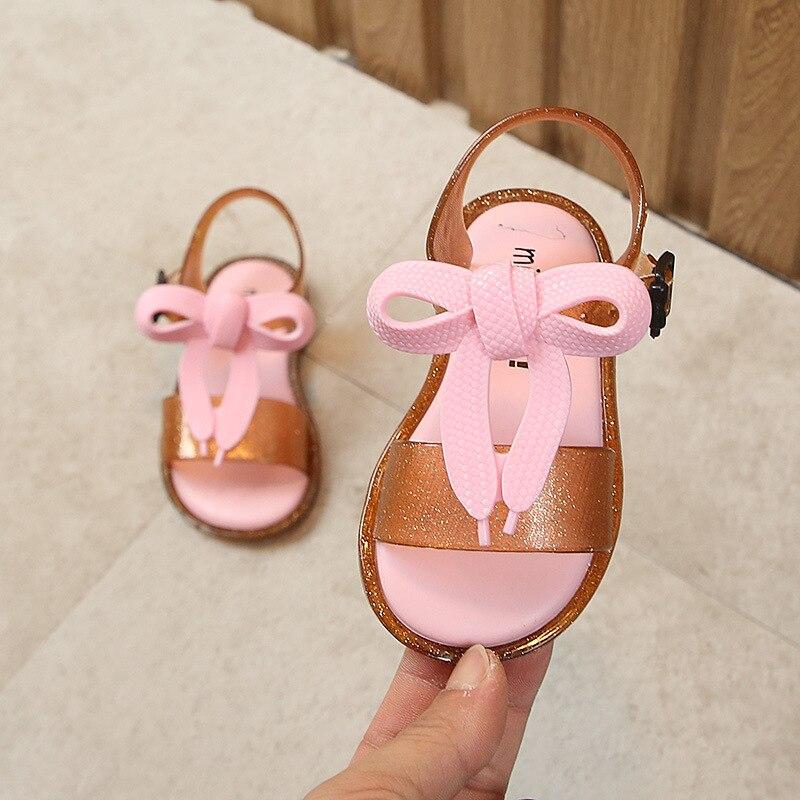 Bebé 2019 1 Princesa 2 Zapato Playa Niña Nueva Bowtie De Children's Plana Moda Sandalias Verano 5q3RcjLA4