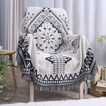 Northern Europe Sofa Blanket Geometric Pattern Carpet For Living Room Bedroom Rug Bedspread Dust Cover Table Cloth Tapestry