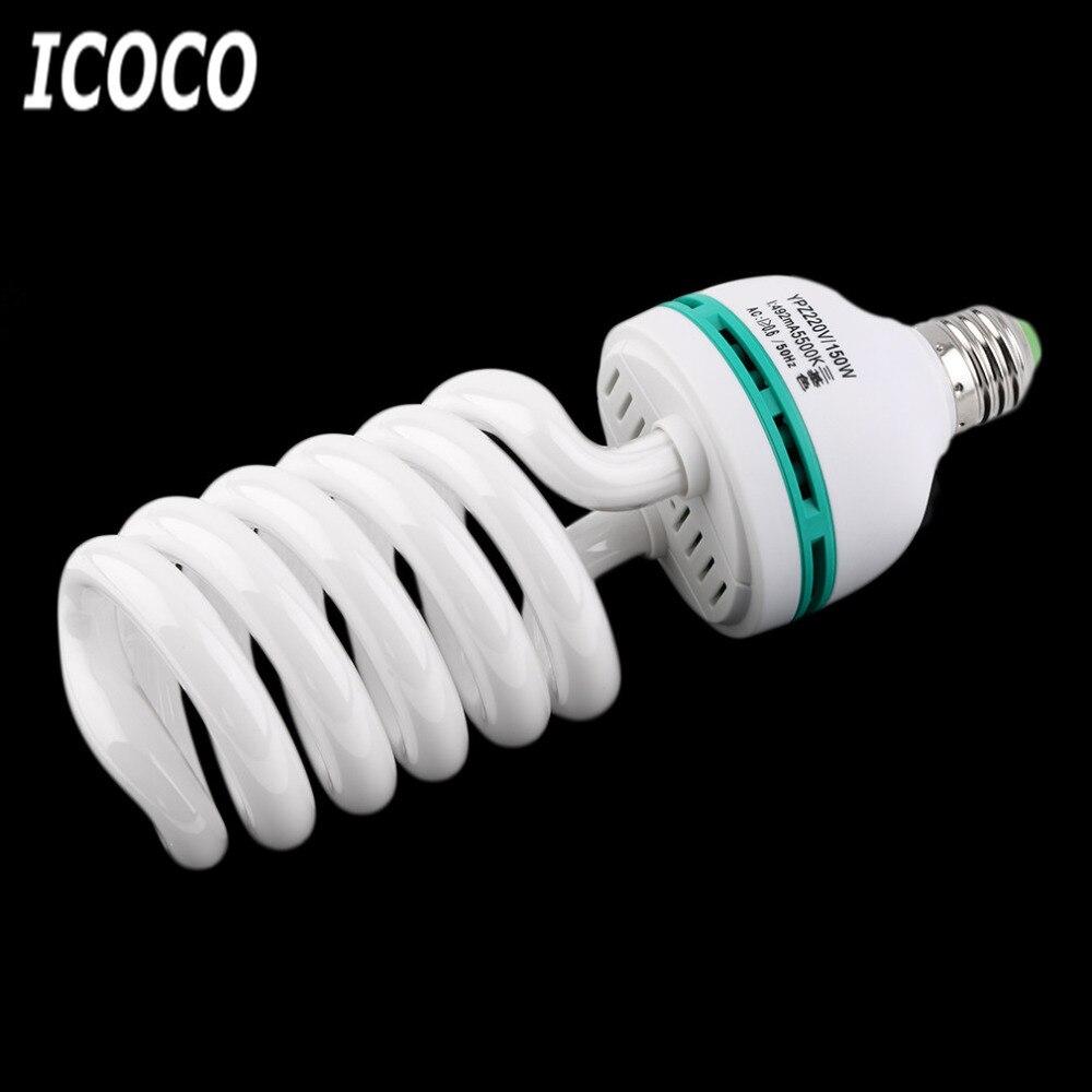 ICOCO 150W 220V 5500K E27 Photo Studio Bulb Video Light Photography Daylight Lamp For Digital Camera Photography