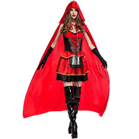 Little Red Riding Hood Costume for Women Fancy Adult Cosplay Fantasia Carnival Fashion Performance