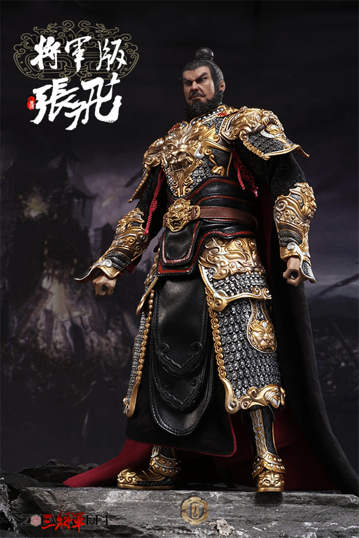 1//6 Scale Ancient Three Kingdoms General Zhang Fei Yi De Figure model Toy