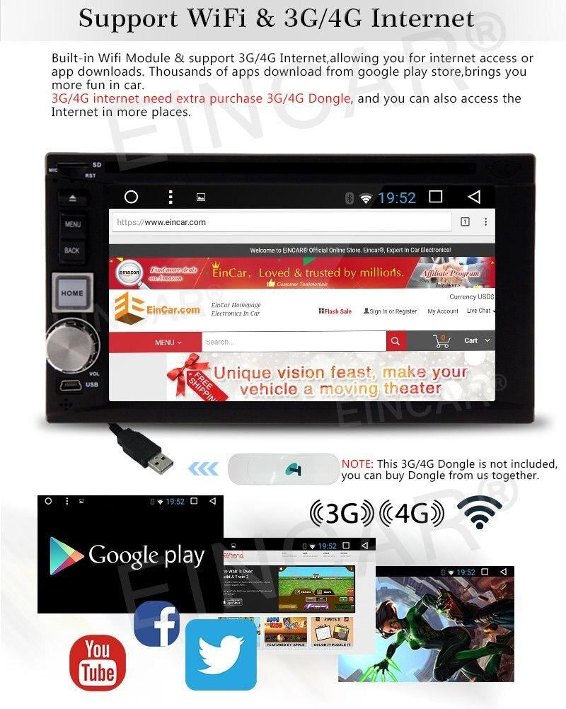 Android 6.0 двойной 2DIN универсальный стерео головное устройство с Географические карты sd карты GPS навигации Cam-в СБ NAV HD DVD/CD ресивер плеер