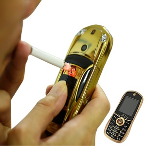 Bar Mini Car Shape Mobile Cellphone With Electronic Cigarette Lighter Facebook GPRS Cell Small Size Dual Sim Flashlight P499