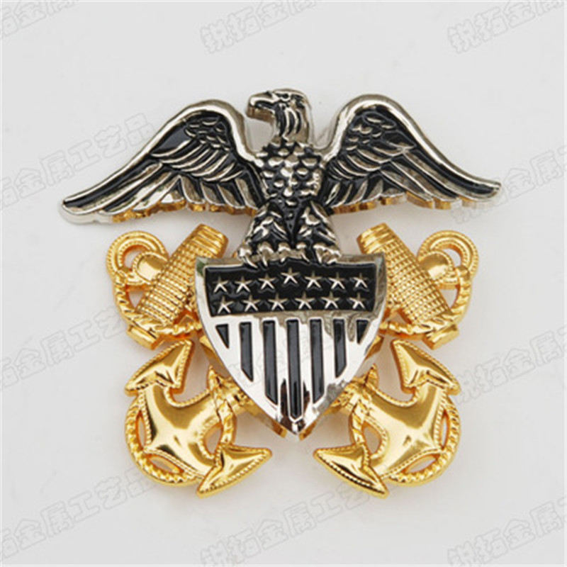 Cap Badge For Army Hat For US Military Officer Navy Cap