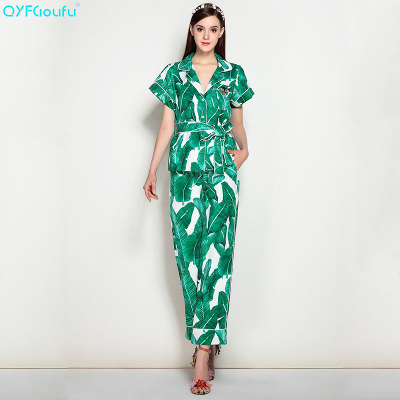 7f1224c0fa QYFCIOUFU 2018 summer Women's 2 Piece Set Short Sleeves v neck tops and  blouses + Green