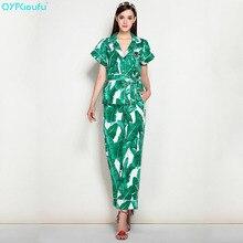 QYFCIOUFU 2018 summer Women s 2 Piece Set Short Sleeves v neck tops and  blouses + Green b300349d9959