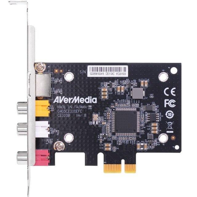 Tarjeta de captura profesional SD PCIe con terminal S, captura de vídeo, compuesto AV (CE310B) de AVerMedia CE310B