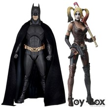 Batman Begins Bruce Wayne Harley Quinn Arkham City Toy Action Figure Model Doll Gift
