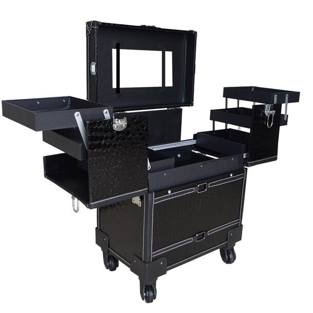 Professional drawbars Cosmetics large - capacity beauty salons multi - layer Wenxiu toolbox Wanxiang Lun cosmetics case 20 22 24 26 drawbars