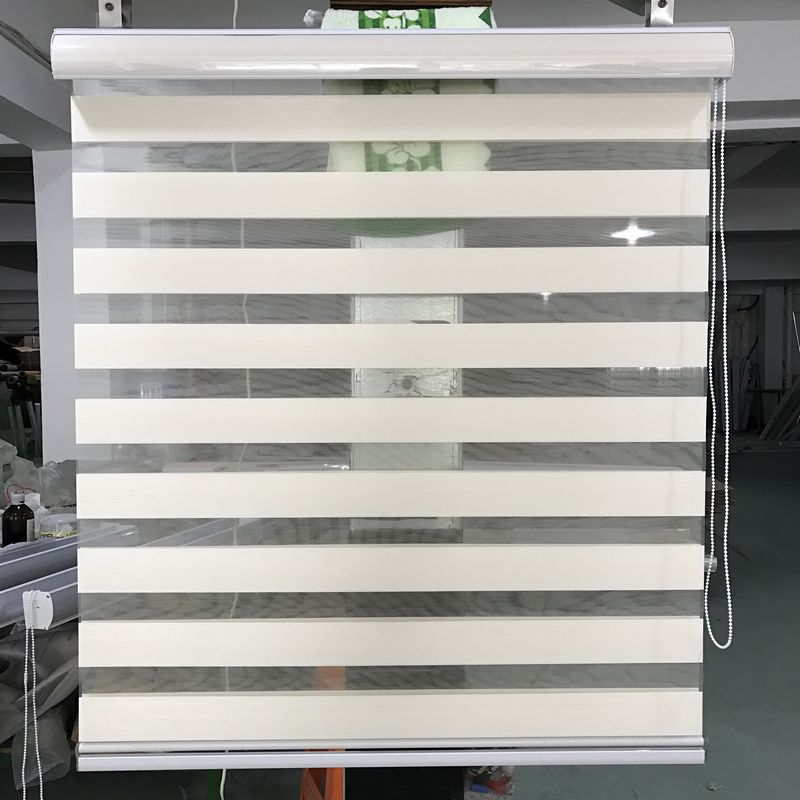 Custom Size Shade Translucent Roller Zebra Blinds In Light