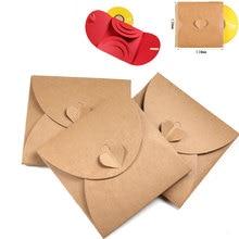Ymjywl CD чехол 10 шт./лот CD упаковка бумажный мешок DVD Свадебные для фотографии сумка может вместить 3 диска