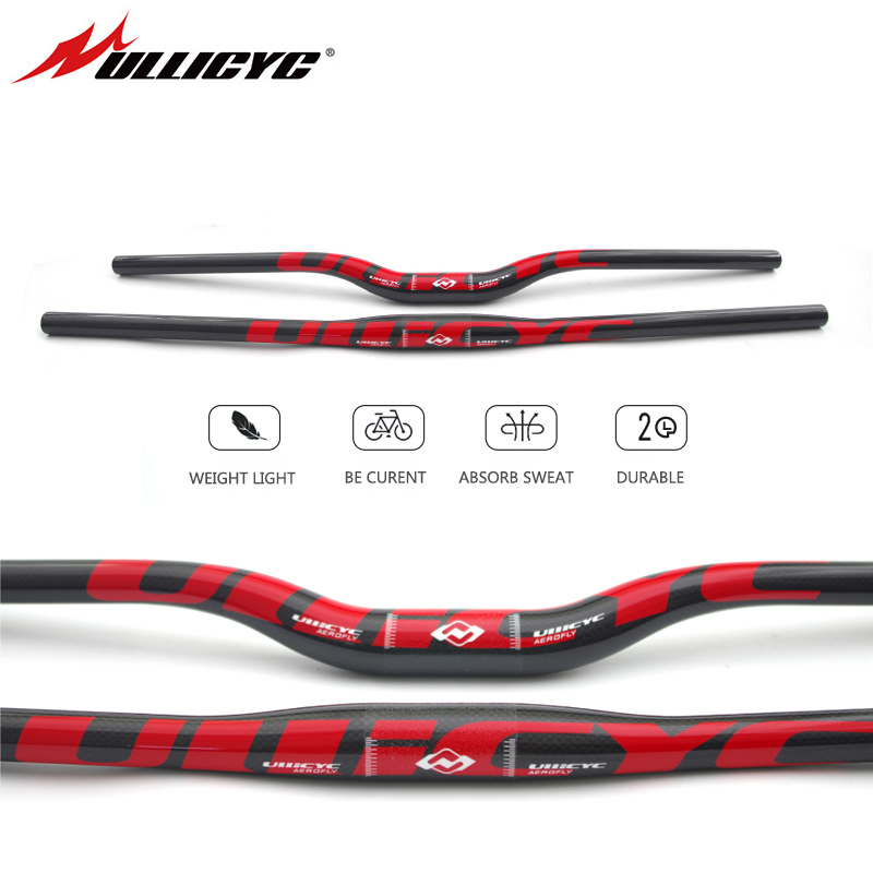 Ullicyc Mountain Bike 3K Full Carbon Handlebar Flat/Rise Carbon Bicycle Handlebar MTB Parts 31.8*620/640/660/680/700/720mm CB186Ullicyc Mountain Bike 3K Full Carbon Handlebar Flat/Rise Carbon Bicycle Handlebar MTB Parts 31.8*620/640/660/680/700/720mm CB186