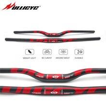 Ullicyc bicicleta de montaña 3K manillar de carbono completo plano/elevación de carbono bicicleta manillar MTB partes 31,8*620/ 640/660/680/700/720mm CB186