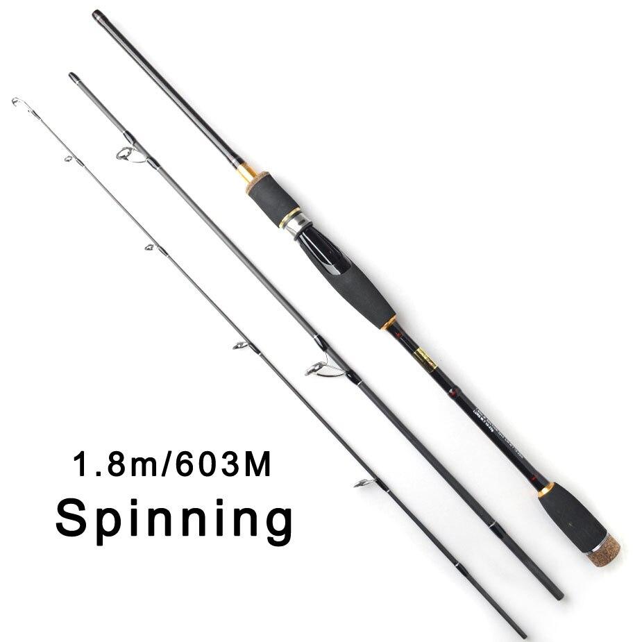 TOMA Spinning Baitcasting Fishing <font><b>Rod</b></font> Japan Carbon Fiber 1.8m <font><b>3</b></font> Section 603M Lure <font><b>Rods</b></font> Fast Action Travel <font><b>Rod</b></font> Fishing Tackle