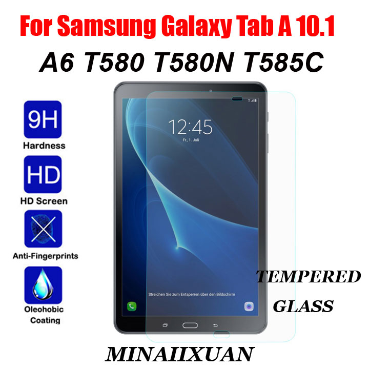 Screen Protector for Samsung Galaxy Tab A 10.1 SM-T585 SM-T580 T580 T580N T585 T585C 0.33mm 9H Anti-Scratch Tempered Glass Film цена