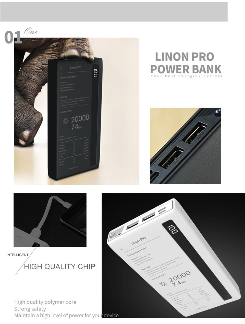 Linon Pro 20,000 mAh Power Bank