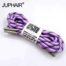 1-12 Pairs Llight purple Black Outdoor Sports Round Shoelaces Shoes Lace Boot Athletic Unisex Rope Athletic Metal Head Shoelaces 1 12 pair black and white outdoor sport casual round shoelaces shoe lace boot athletic unisex rope athletic metal head shoelaces